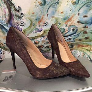 Dinka j. Plainer calf hair heels size 10